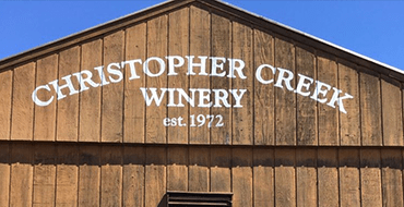 Roof of the Christopher Creek Winery Tasting Room